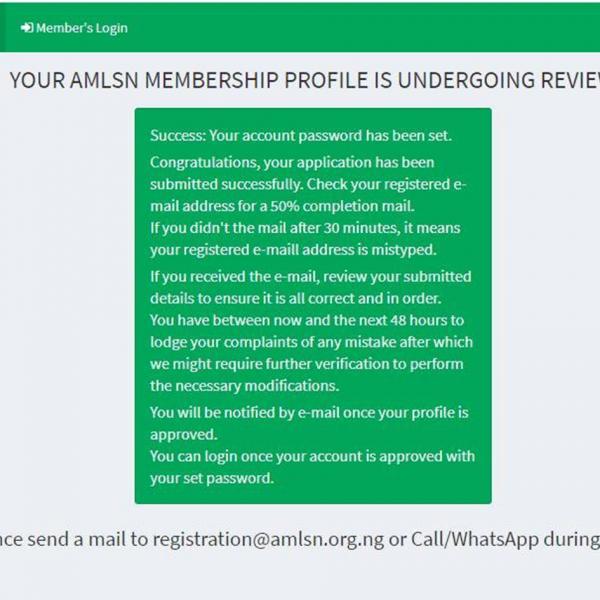 Registration Notification.