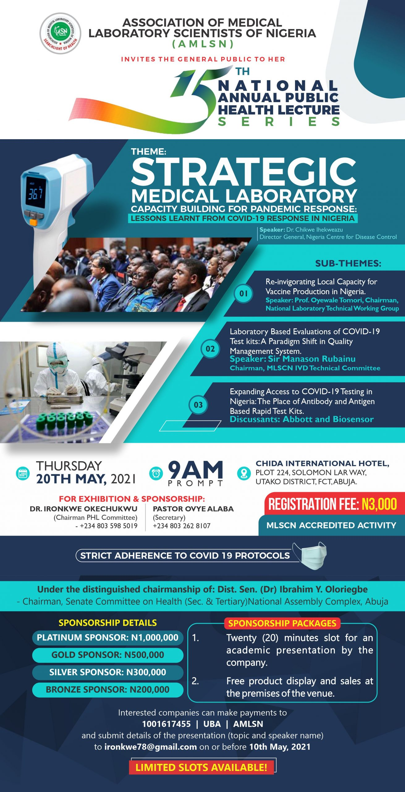 15TH NATIONAL ANNUAL PUBLIC HEALTH LECTURE SERIES/INVESTITURE